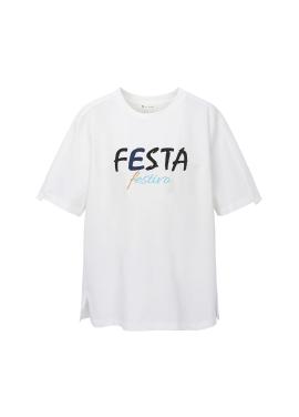 레터링 포인트 티셔츠