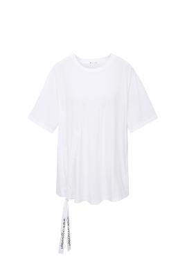 레터링 스트링 티셔츠