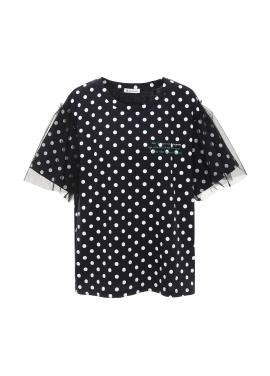 [아티스트프루프] 매쉬 소매 도트 티셔츠