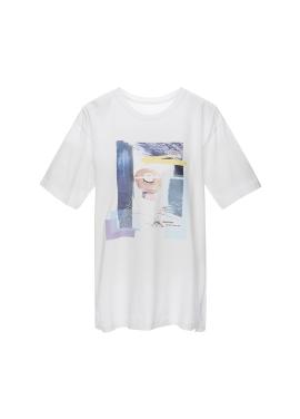 그래픽 프린트 티셔츠