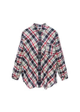 [15%쿠폰] 코튼 체크 셔츠