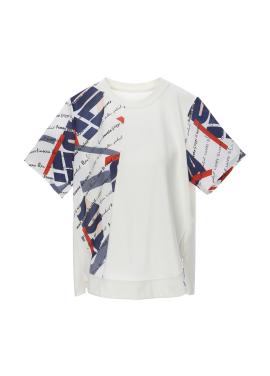 스카프 프린트 티셔츠