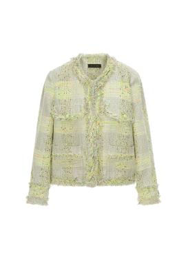 코튼 혼방 숏 트위드 자켓