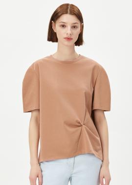 [RUE] 셔링 포인트 티셔츠