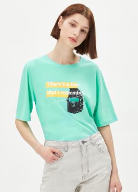 [EXCLUSIVE][RUE]레터링 프린트 티셔츠