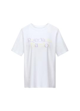 [IT X JISOO] 컬러 레터링 티셔츠
