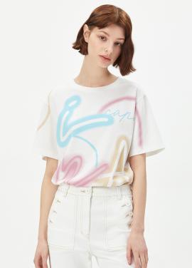네온 레터링 티셔츠