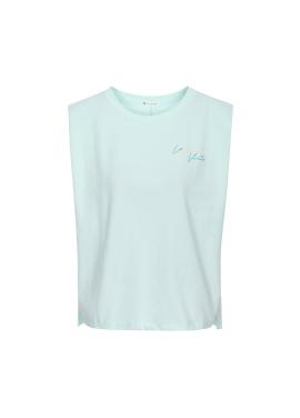 [SALE]숄더 패드 슬리브리스 티셔츠