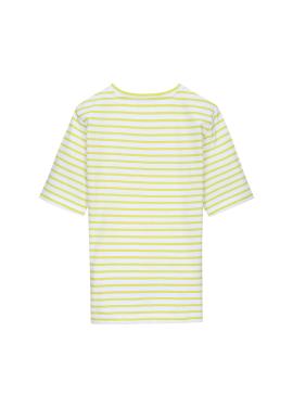 자수 스트라이프 티셔츠