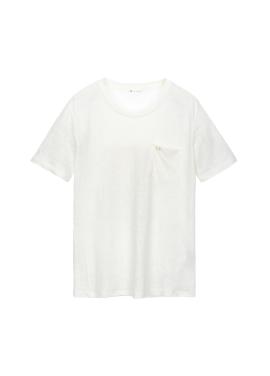 [SALE] 자수 린넨 티셔츠