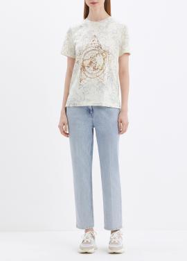 코튼 혼방 프린팅 티셔츠