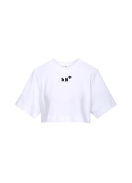 [Exclusive][RUE DE IT] 크롭 미니 로고 티셔츠