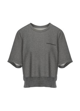 코튼 혼방 레터링 티셔츠