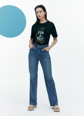 [FAD]High-rise denim pants