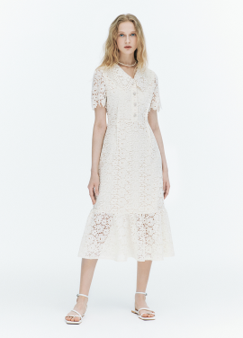 [FAD]Crochet lace dress