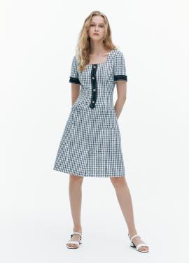 [FAD]Tweed half sleeve mini dress