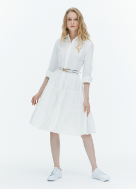 [FAD]Tiered shirt dress