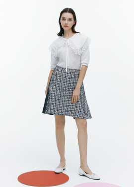 [FAD]Tweed mini skirt
