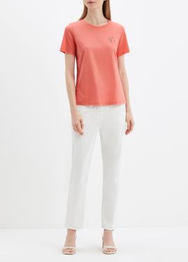 [ONLINE ESSENTIALS] 코튼 혼방 미샤 베이직 하프 슬리브 티셔츠