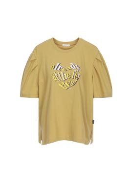 퍼프 슬리브 티셔츠