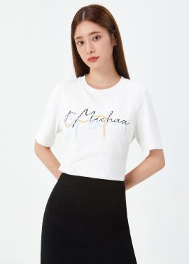 레터링 핫픽스 티셔츠