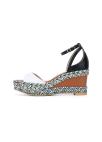 Leather Wedge Heel