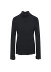 ◆ High Neck Cuffs Slit Pullover