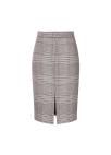 ◆ Wine Check Front Slit Skirt(주문폭주)