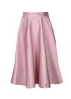 Flare Glossy Midi Skirt