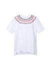 Neck Line Point Cotton T-shirts