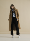 ◆Sleeve Strap Point Wool Coat[주문폭주]