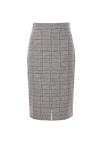 ◆Front Slit Glen Check Pencil Skirt