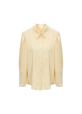 [홀리데이][Exclusive][RUE]볼륨슬리브 폴리혼방 셔츠