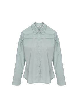[홀리데이][Exclusive][IM]슬림 웨이스트 코튼셔츠