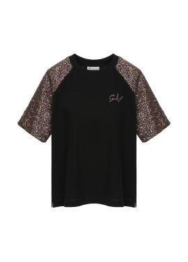 스팽글 포인트 티셔츠