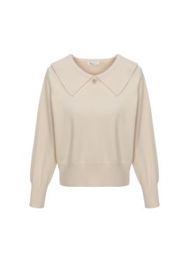 [Exclusive][RUE]와이드 카라 니트 스웨터